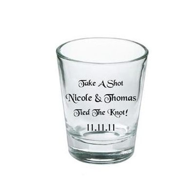 wedding favours ideas - personalised shot