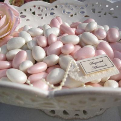 wedding favour ideas - sugared almonds